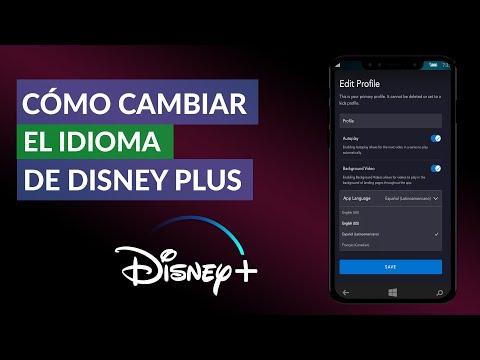 Cómo Cambiar el Idioma de Disney Plus