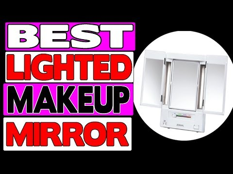 Jerdon Tri Fold Two Sided Lighted Makeup Mirror Review