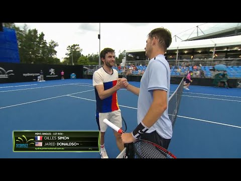 Gilles Simon v Jared Donaldson Match Highlights (R1) | Sydney International 2018