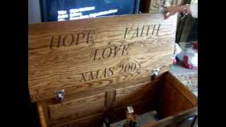 Two Hope Chest  ,cherry And Oak.