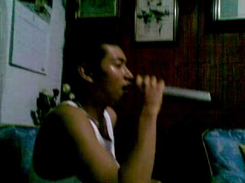 my cousin arbee, singing a tagalog song