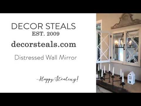 Decor Steals: Distressed Wall Mirror