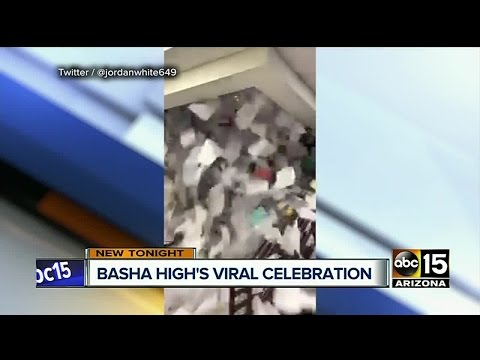 Basha High School end of year paper toss video goes viral