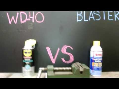 White Lithium comparison WD-40 vs Blaster