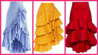50+ Casual wear Frill skirts d…