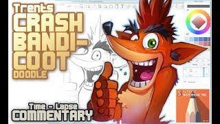 Crash Bandicoot 1 Hour sketch in Sketchbook Pro [speedpaint]