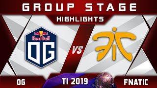 OG vs Fnatic - EARTH SPIRIT MID! TI9 The International 2019 Highlights Dota 2