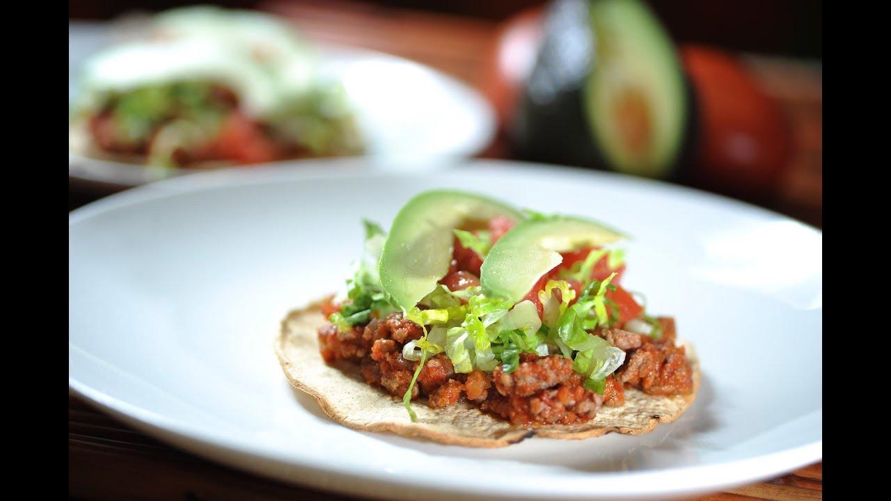 Tostadas de picadillo recetas de cocina mexicana como for Canal cocina mexicana