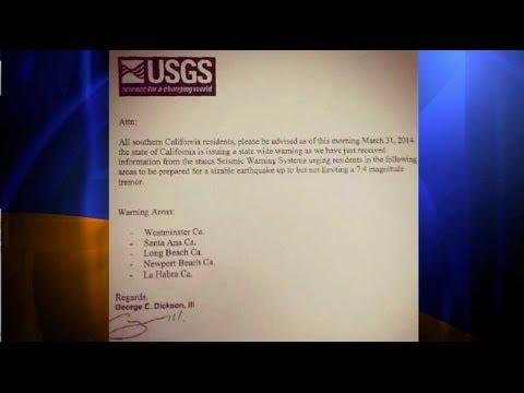 USGS warns of hoax