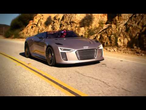 Audi e-tron Spyder driving in California (+details)