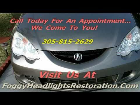 Acura | Cleaning Headlight Lenses Miami | Headlights Lens Cleaning In Miami, Fl.