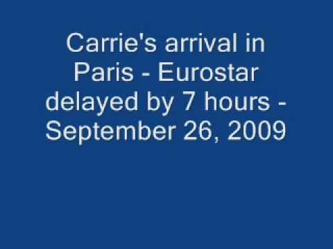 Eurostar Arrival in Paris, Sept. 26, 2009
