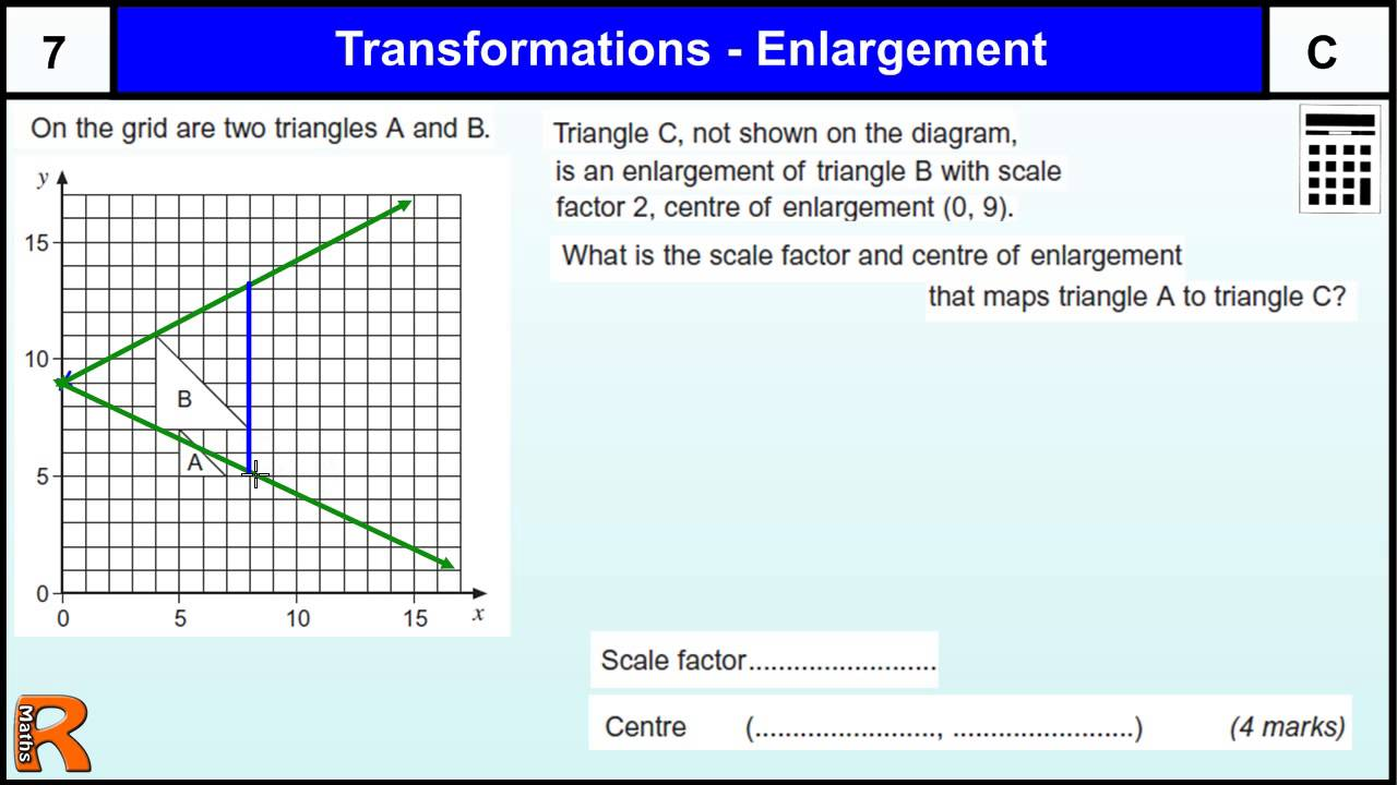 how to find shear factor in transformation