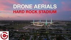 4K DRONE AERIALS - HARD ROCK STADIUM, MIAMI GARDENS, FLORIDA