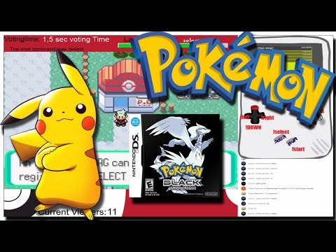Pokemon BLACK write in Chat to Control! (Program controlled!)