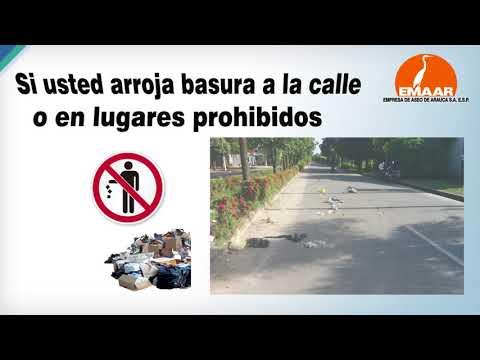 Código de policía establece sanciones  por arrojar basuras