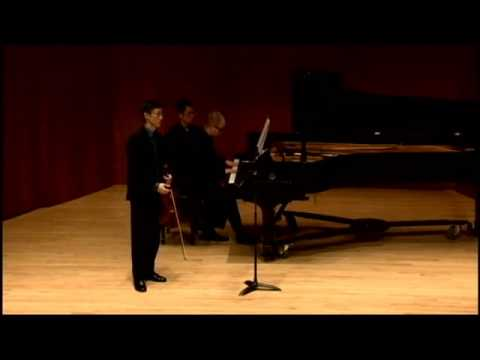 Franck Violin Sonata in A major, 1st mvt - Timothy Lee, violin, Christopher Reed, piano