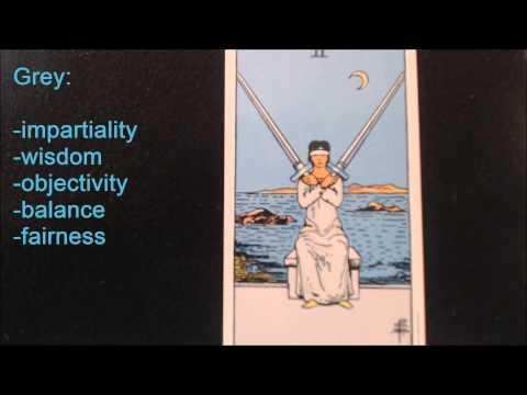 2 of Swords: Symbols of the Rider Waite Smith Tarot by Abheda Greene