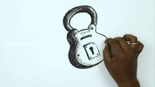 How to Draw a Lock & Key