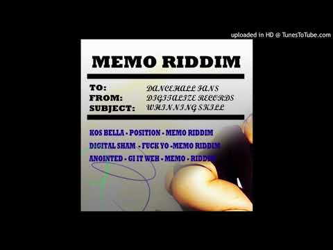 MEMO RIDDIM MIXTAPE  by REGGAE TIME SOUND_JEFF-JAH LION-GAMLEK-BIZZAR