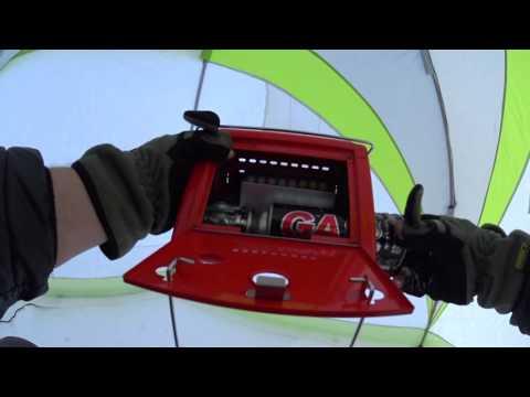Газовый обогреватель для зимней палатки