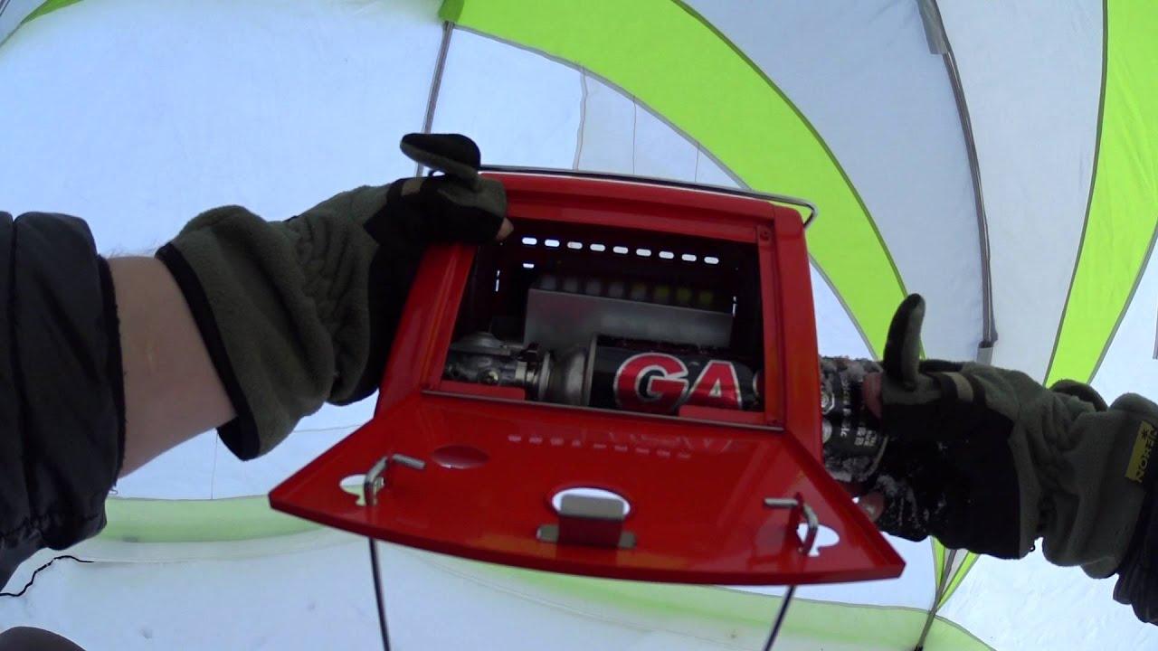 Газовый обогреватель для зимней палатки - YouTube