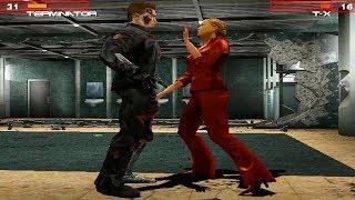 Terminator T-850 Vs T-X All Boss Fight Scenes - Terminator 3 Rise Of The Machines Game