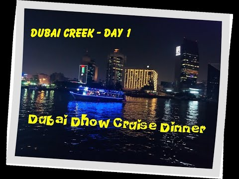 UAE DIARIES | Day 1 | DUBAI Sightseeing Dhow Cruise Dinner