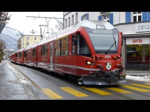 Swiss Trains: Street Running in Chur