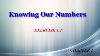Knowing Our Numbers 1.2