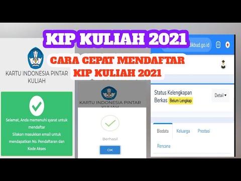 Cara Cepat Mendaftar Kip Kuliah 2021 Kip Kuliah 2021 Youtube
