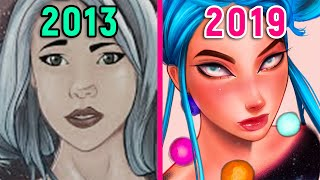 5 YEAR ART PROGRESS (OC Redraw!)