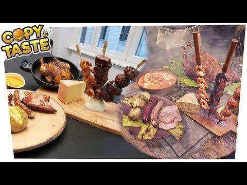 Die MONSTER HUNTER WORLD FLEISCH-PLATTE nachkochen!!! 🥘🍗🍖🥩 Copy & Taste #CaT thumbnail
