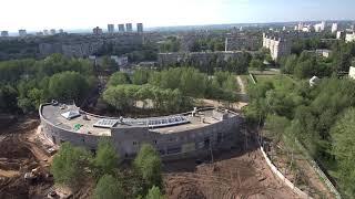стройка нового зоопарка в Перми видео с квадрокоптера