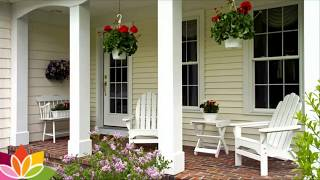 Beautiful front porch designs ideas for plants lover