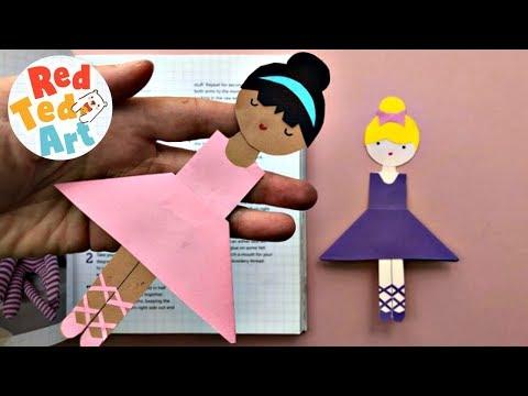 Ballerina Corner Bookmark Design - Easy Paper Ballerina Bookmark