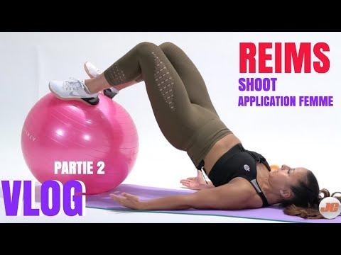 Vlog : Shoot Programme Femme | Visit Reims |  Ft DD Workout