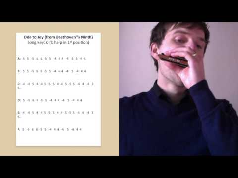 Ode to Joy harmonica lesson (Beethoven) - YouTube