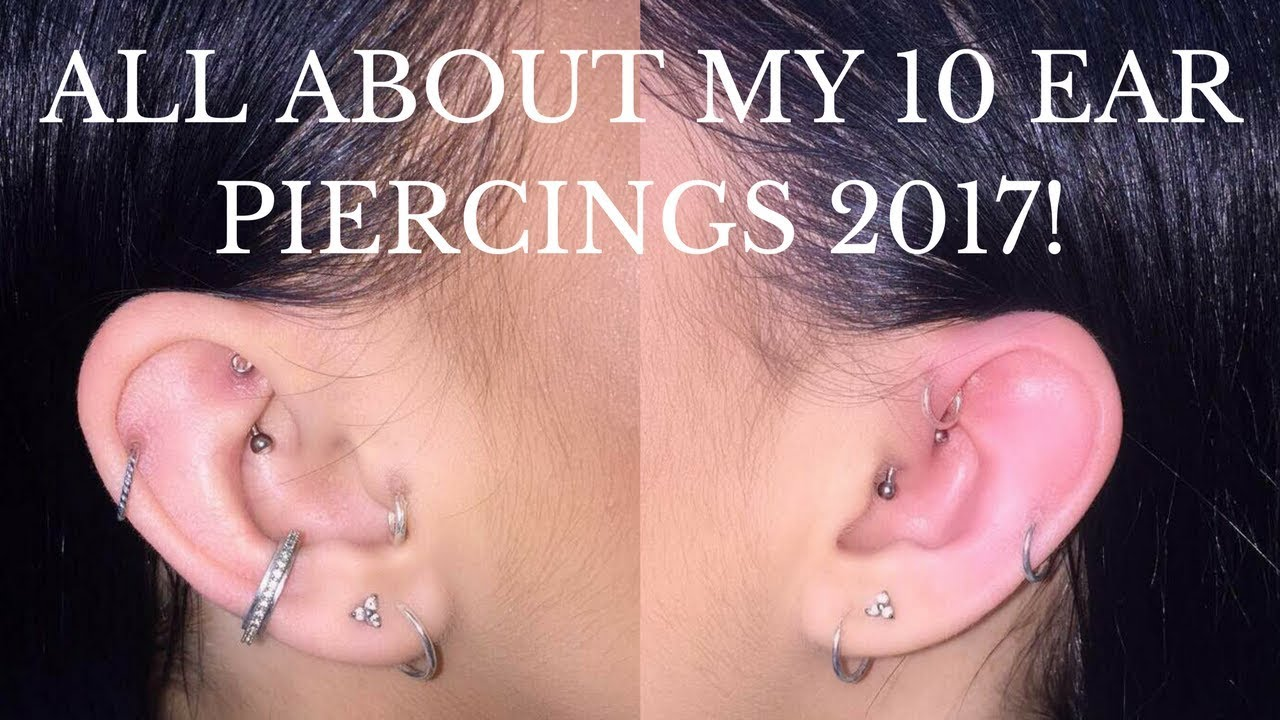 All About My Piercings 2017 Pain Healing Cleaning Abigail