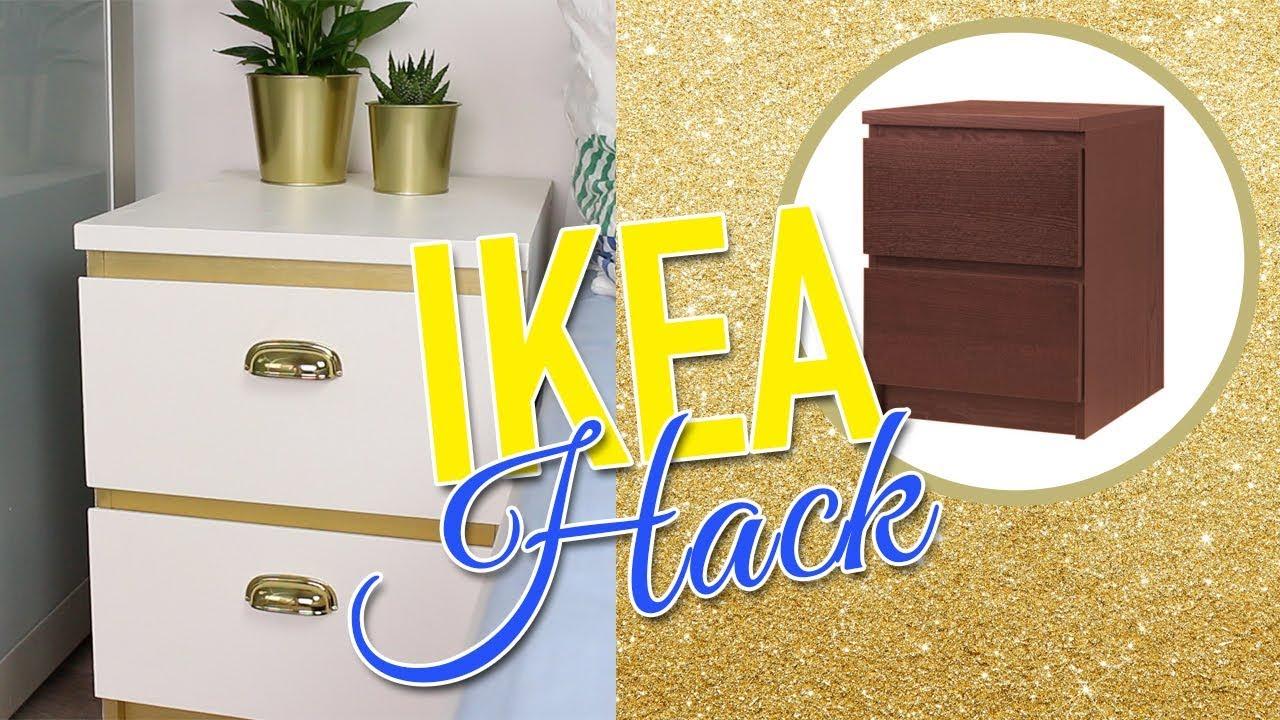 ikea hack malm nachttisch g nstig und einfach diana diamanta youtube. Black Bedroom Furniture Sets. Home Design Ideas