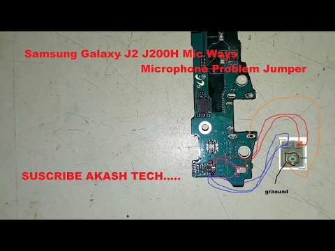 Samsung j2 mic solutions Or how to fitting new mic replacement in Samsung j2,j3,j5,j7  YouTube