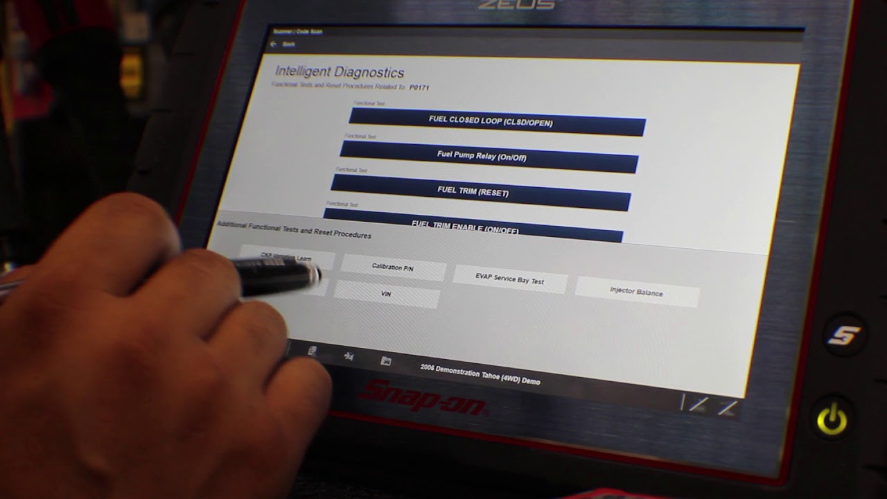 Zeus Snap On Diagnostic system overview demo of intelligent diagnostics