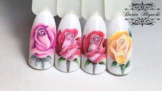 Живые Розы! Флористика! Весенний Дизайн Ногтей!