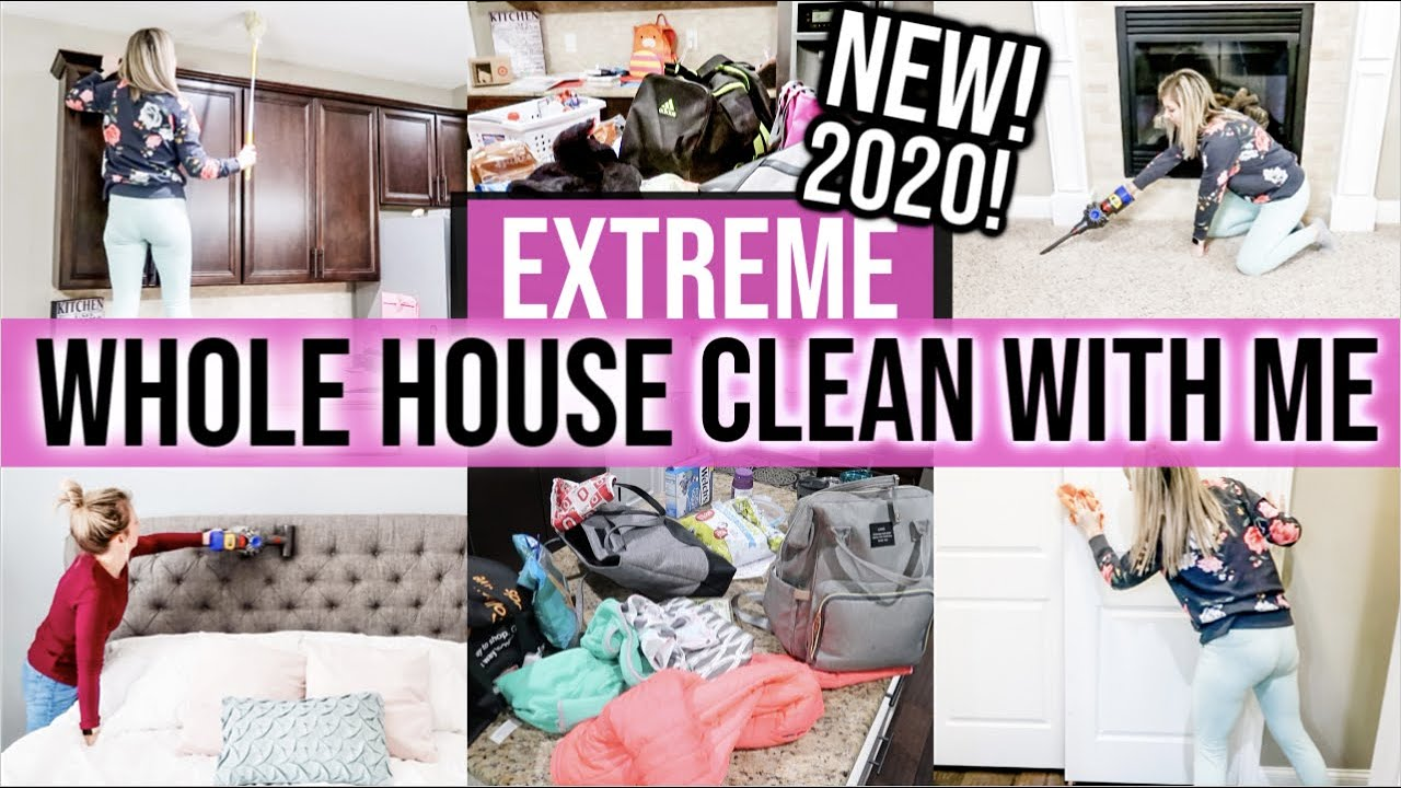 2020 EXTREME WHOLE HOUSE CLEAN WITH ME | ALL DAY CLEANING MOTIVATION | DECLUTTER | CLEANING ROUTINE