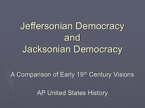 JB Presents Jefferson and Jackson: A Comparison of Visions
