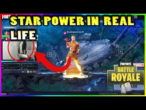 STREAMER DOES THE NEW STAR POWER IN REAL LIFE!!! - Fortnite highlights #222