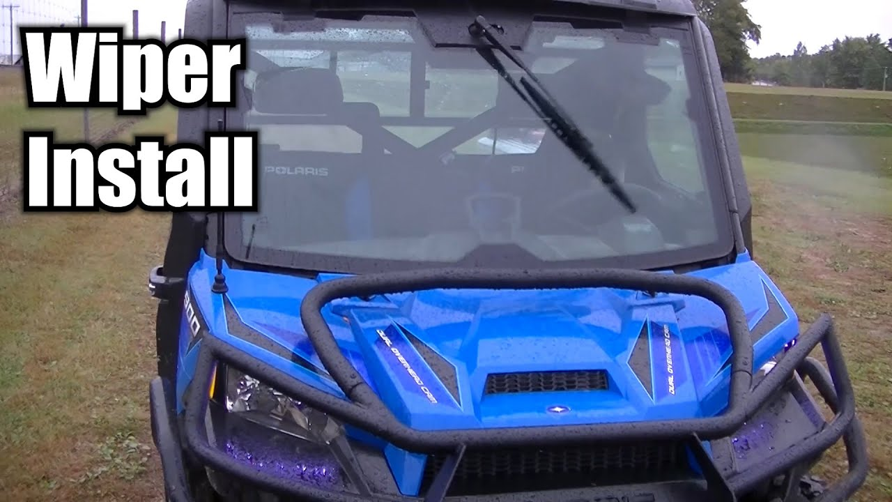 Polaris Ranger 900 Pro Fit Windshield Wiper Install Youtube Crew Wiring Diagram Free Picture