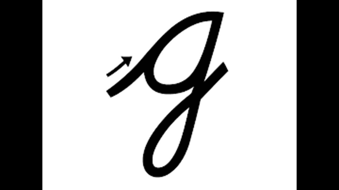 How to write small cursive letter g - YouTube
