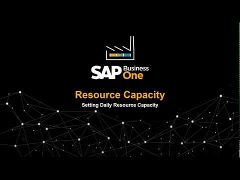 SAP Business One - Resource Capacity