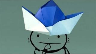 Chapéu De Papel. Como Fazer Origami.